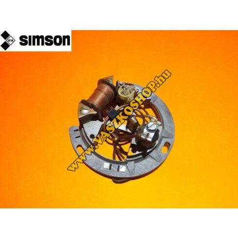 Gyújtás alaplap megszakítós komplett Simson