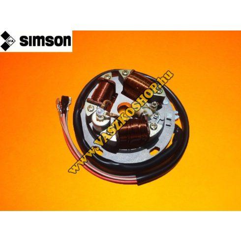 Gyújtás alaplap megszakítós komplett Simson 51